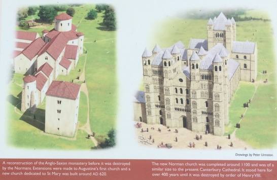 original vs Norman Churches at St. Augustine's Abbey