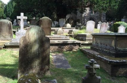 graveyard in St. Martin's Church