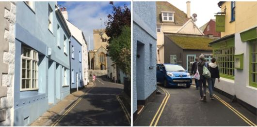 narrow-streets-with-vehicular-traffic-in-lyme-regis
